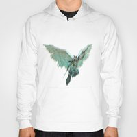 angel wings Hoodies featuring ANGEL by Illu-Pic-A.T.Art