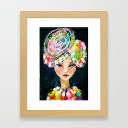 High Society Girl Framed Art Print