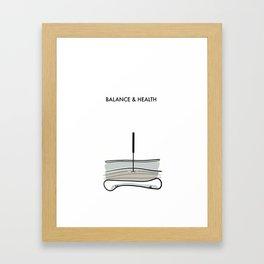 Acupuncture - Balance & Health Framed Art Print
