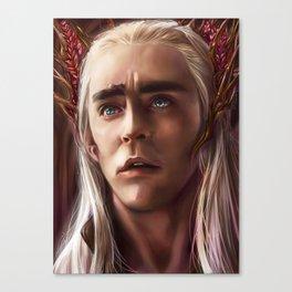Thraduil Portrait Canvas Print