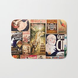 Circus Collage Bath Mat