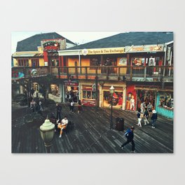 Fisherman's warf Canvas Print