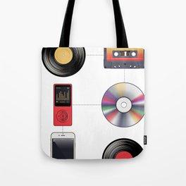 """Evolution"" of Music Tote Bag"