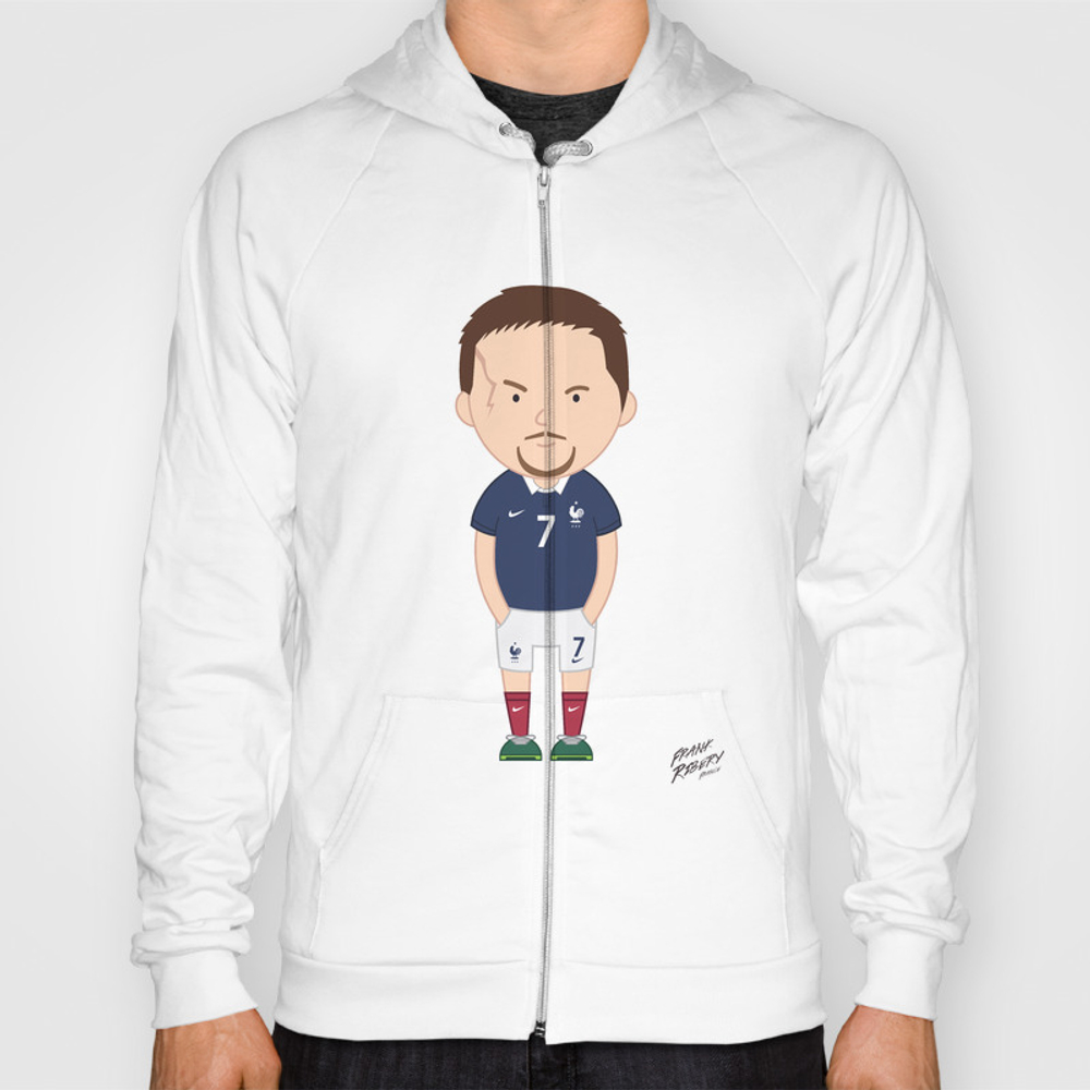 Franck Ribéry - France - World Cup 2014 Hoody by Toonsoccer SSR9053105