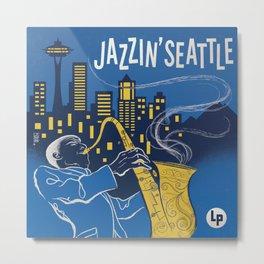 Jazzin' Seattle Metal Print