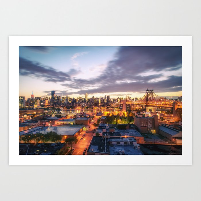 New York City Skyline - Evening Art Print