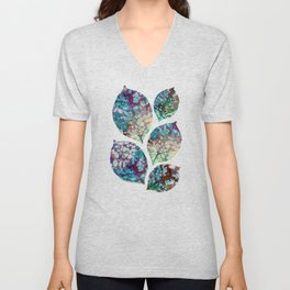 Colorful leaves II Unisex V-Neck