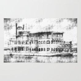 New Orleans Paddle Steamer Vintage Rug