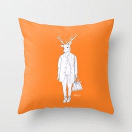 Deerman Throw Pillow