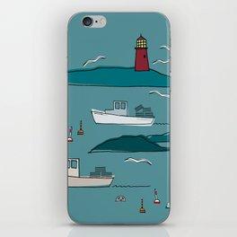 Lobstering in the Harbor iPhone Skin