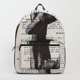 On toes - ink drawing Backpack