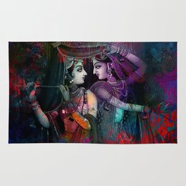 Radha Krishna- the divine Rug