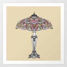 Vintage lamp Art Print