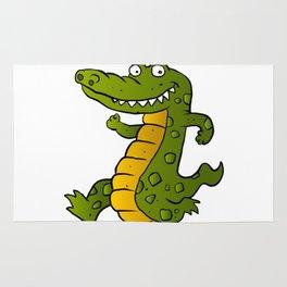 Cartoon crocodile Rug