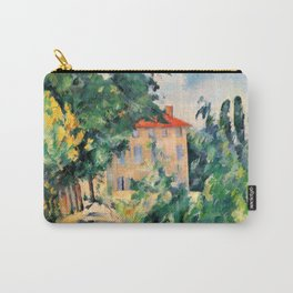 """Paul Cezanne """"House with red roof"""", 1890 Carry-All Pouch"""