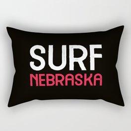 Surf Nebraska Rectangular Pillow