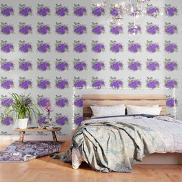 Bride Wedding Bridal Purple Violet Lavender Roses Watercolor Wallpaper