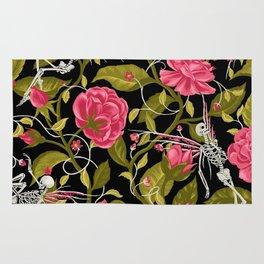 Death of Summer (black and rose) Rug