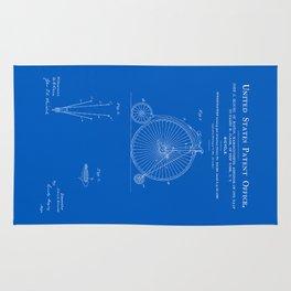 High Wheel Bicycle Patent - Blueprint Rug