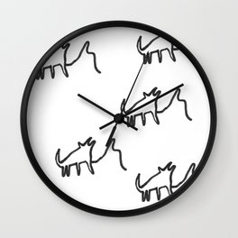 Wolf Howling Wall Clock