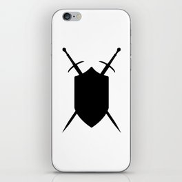 Crossed Swords Silhouette iPhone Skin