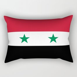 Syrian flag - may PEACE prevail Rectangular Pillow
