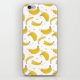 Banana print iPhone Skin
