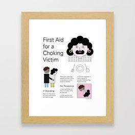 Graphic First Aid Choking Poster Art Framed Art Print