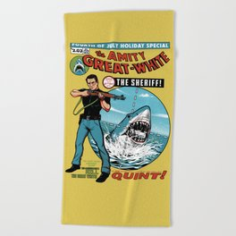 The Amity Great White Beach Towel