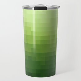 Gradient Pixel Green Travel Mug