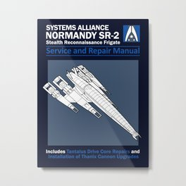 Normandy SR-2 Systems Alliance Service and Repair Manual Metal Print