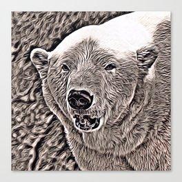 Rustic Style Polar Bear Canvas Print