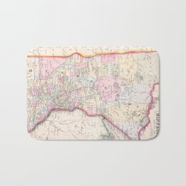Vintage Map of Minnesota (1864) Bath Mat