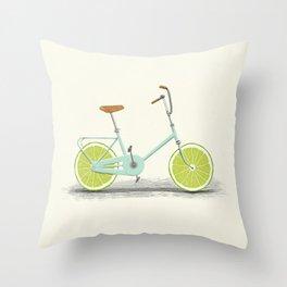 Acid (Blue) Throw Pillow