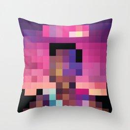 Acid Pixel Rap Throw Pillow