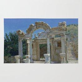 Ephesus. Ruins. Temple of Hadrian Rug