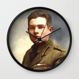 Ernest Hemingway, Writer Wall Clock