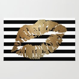 Gold Lips 2 Rug
