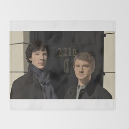 """221B"" Throw Blanket"