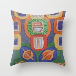 Lying Robot Throw Pillow
