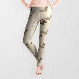 Daschund Pattern Leggings