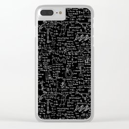 Physics Equations on Chalkboard Clear iPhone Case