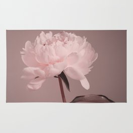 Single peony (pink) Rug