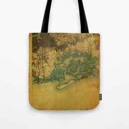 Brooklin 1898 vintage map, usa old vintage maps Tote Bag