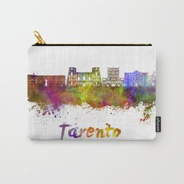 Tarento skyline in watercolor Carry-All Pouch