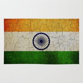 Cracked India flag Rug