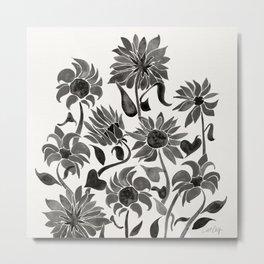Sunflowers – Black Palette Metal Print