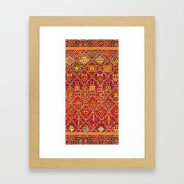 moroccan towel Framed Art Print