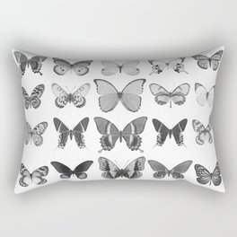 Mono Butterfly Collection Rectangular Pillow