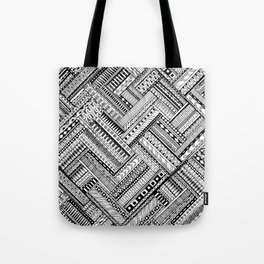 Tribal Ethnic Style  Black & White Tote Bag